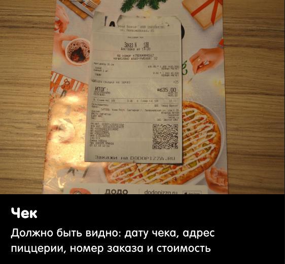 Пример чек-листа тайного агента для проверки ресторан